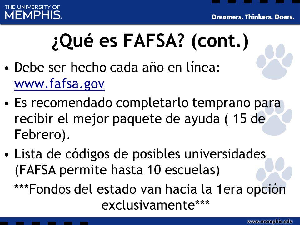 ¿Qué es FAFSA.