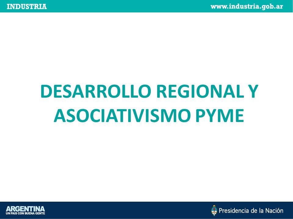 DESARROLLO REGIONAL Y ASOCIATIVISMO PYME