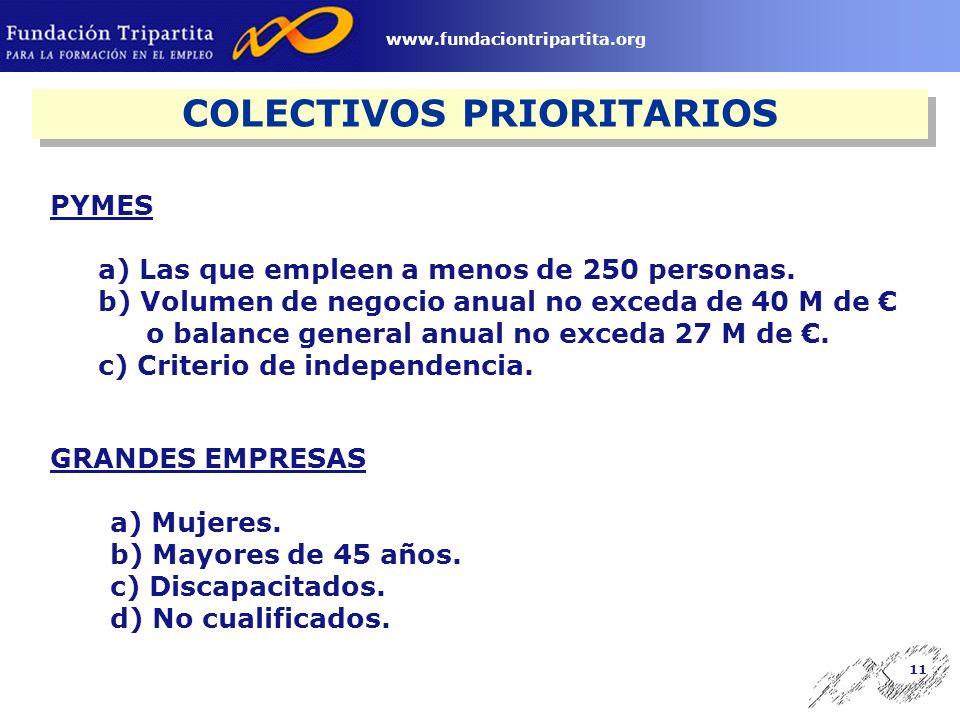 10 www.fundaciontripartita.org Empresas Desarrollan formación para sus trabajadores y cotizan por contingencia de formación profesional.
