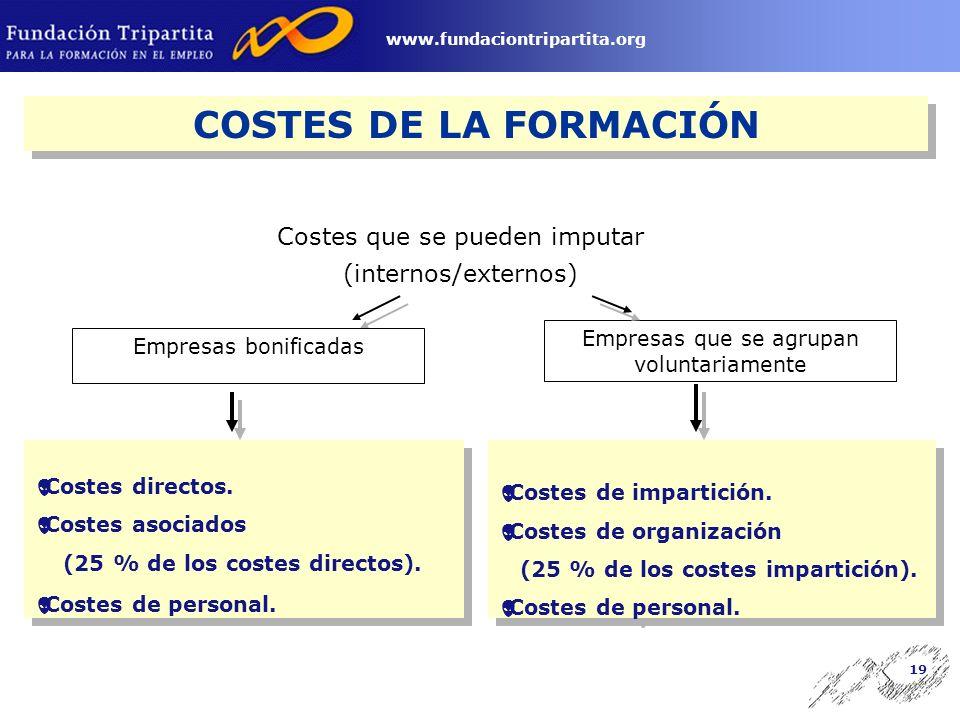 18 www.fundaciontripartita.org 25 participantes por grupo en acciones presenciales, y de 80 por grupo y tutor en acciones a distancia.