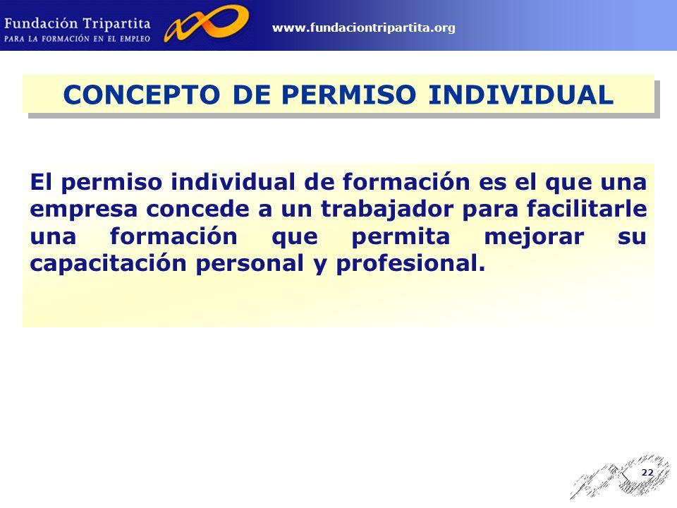 21 www.fundaciontripartita.org Permisos Individuales de Formación