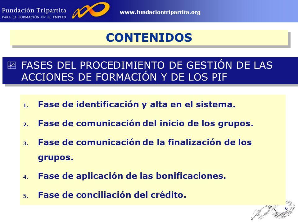 5 www.fundaciontripartita.org CONTENIDOS 1. Concepto de permiso individual.