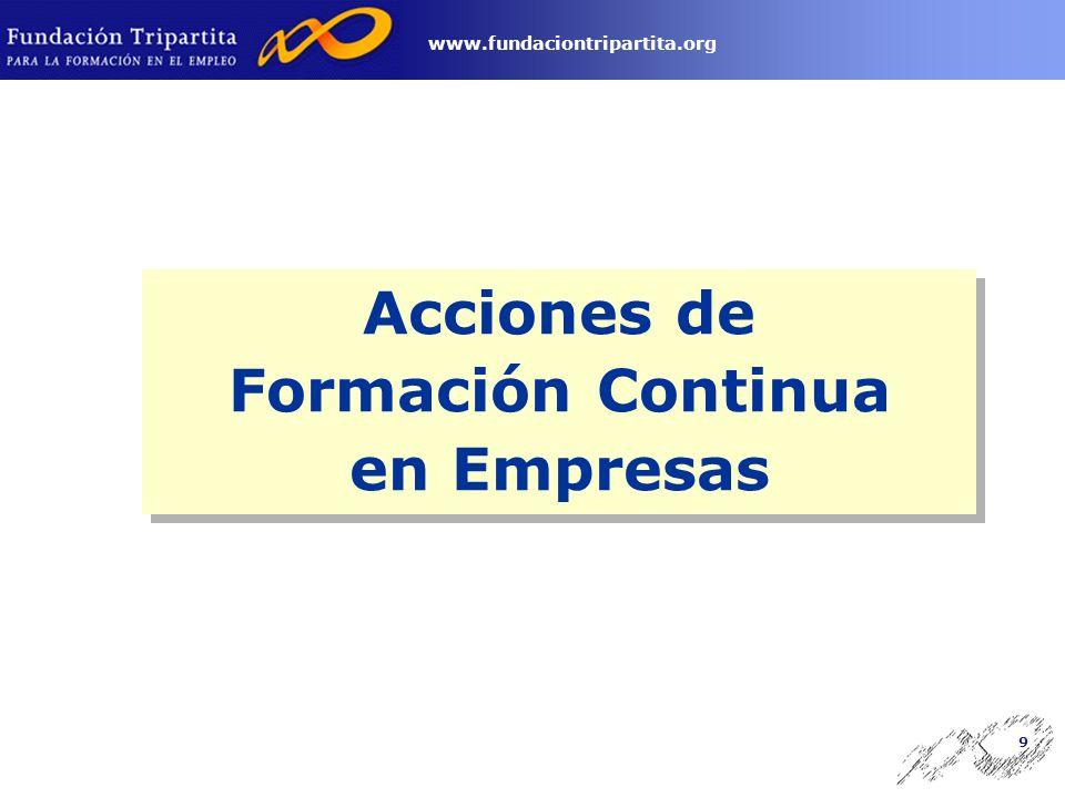 8 www.fundaciontripartita.org Ley de Presupuestos Generales del Estado (créditos aprobados para el INEM).