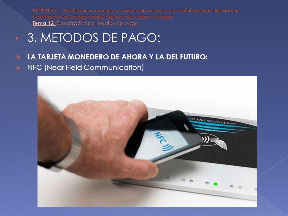 3. METODOS DE PAGO: LA TARJETA MONEDERO DE AHORA Y LA DEL FUTURO: NFC (Near Field Communication)