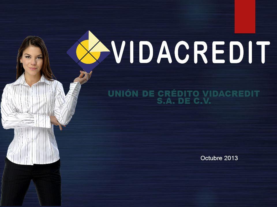 UNIÓN DE CRÉDITO VIDACREDIT S.A. DE C.V. Octubre 2013