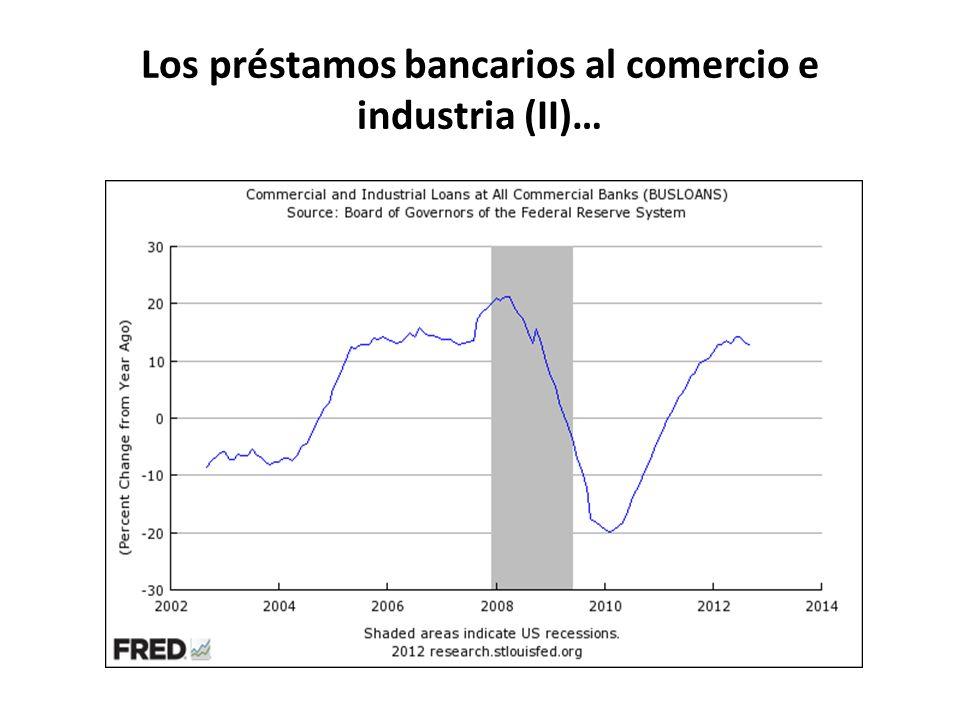Los préstamos bancarios al comercio e industria (II)…