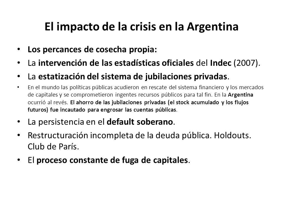 El impacto de la crisis en la Argentina Los percances de cosecha propia: La intervención de las estadísticas oficiales del Indec (2007). La estatizaci