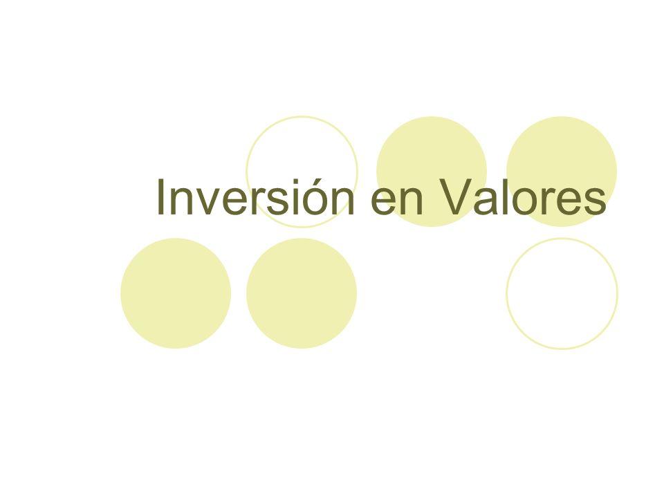 Inversión en Valores