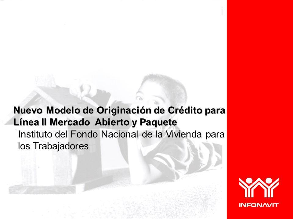 Instituto del Fondo Nacional de la Vivienda para los Trabajadores Nuevo Modelo de Originación de Crédito para Línea II Mercado Abierto y Paquete