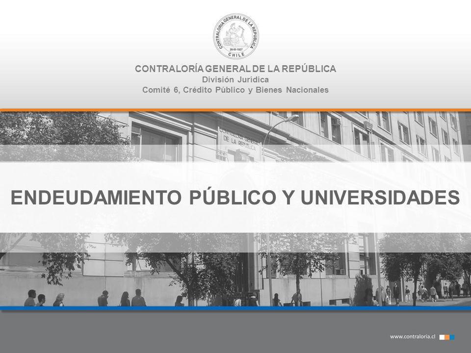 CONTRALORÍA GENERAL DE LA REPÚBLICA División Jurídica Comité 6, Crédito Público y Bienes Nacionales ENDEUDAMIENTO PÚBLICO Y UNIVERSIDADES