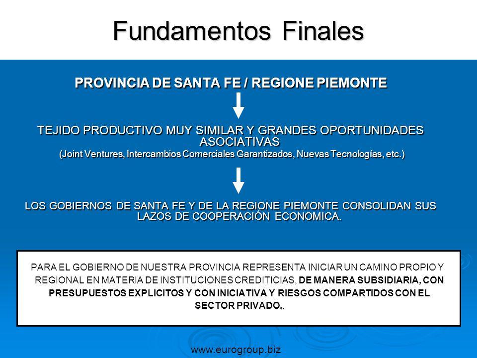 PROVINCIA DE SANTA FE / REGIONE PIEMONTE TEJIDO PRODUCTIVO MUY SIMILAR Y GRANDES OPORTUNIDADES ASOCIATIVAS (Joint Ventures, Intercambios Comerciales G