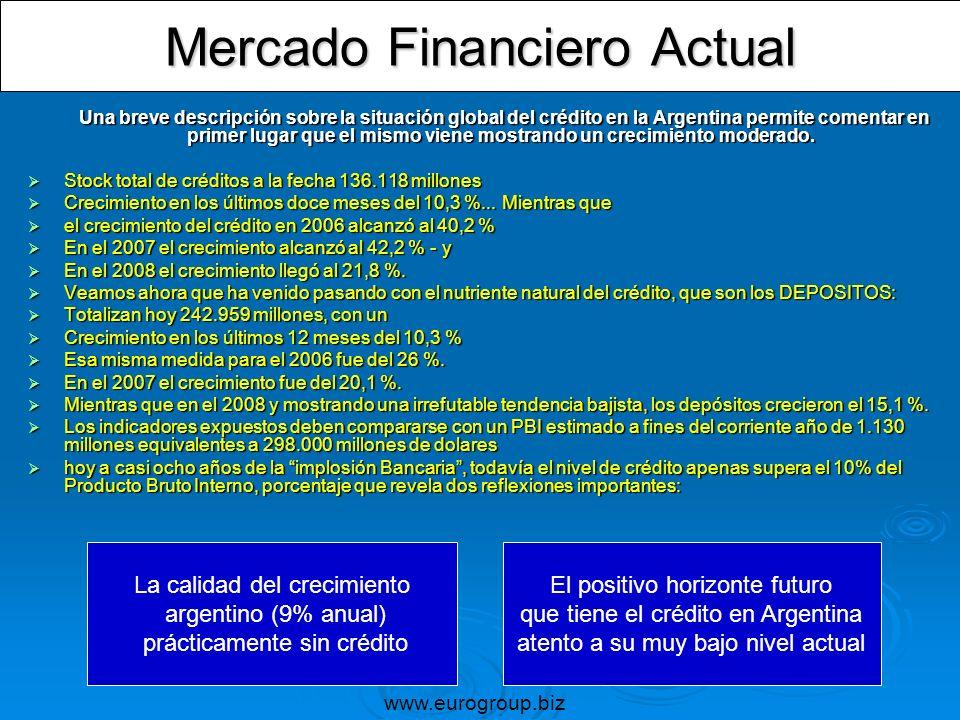 Una breve descripción sobre la situación global del crédito en la Argentina permite comentar en primer lugar que el mismo viene mostrando un crecimien