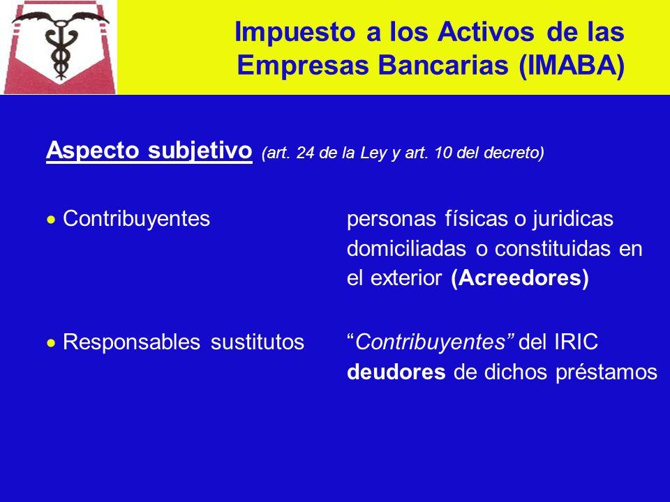 Aspecto objetivo (art. 23 de la Ley y art.