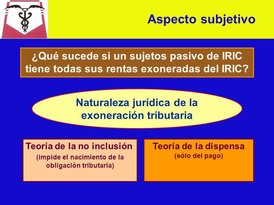 Aspecto subjetivo Sujetos pasivos de IRIC anual (artículo 6º T.4 TO/96) son: A) Las sociedades con o sin personalidad jurídica.