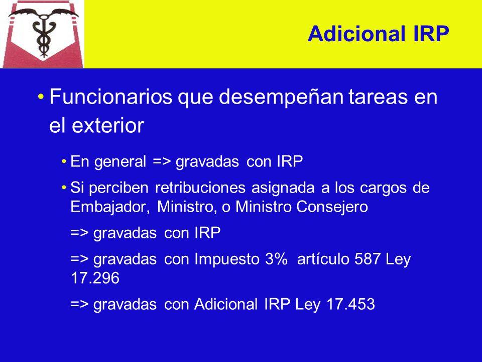 Adicional IRP - Tope La retribución líquida de un dependiente no puede ser inferior a la retribución líquida de la escala inferior incrementada en un 2%