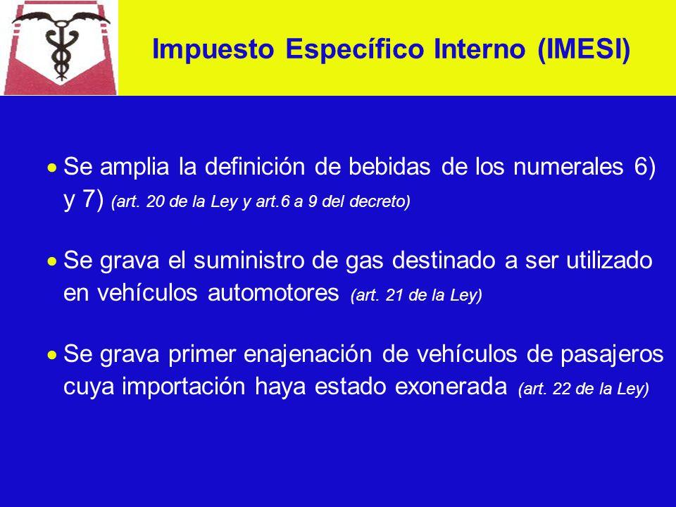 IRIC - EXONERACIONES Se exoneran las rentas correspondientes a fletes para el transporte marítimo de bienes al exterior de la República