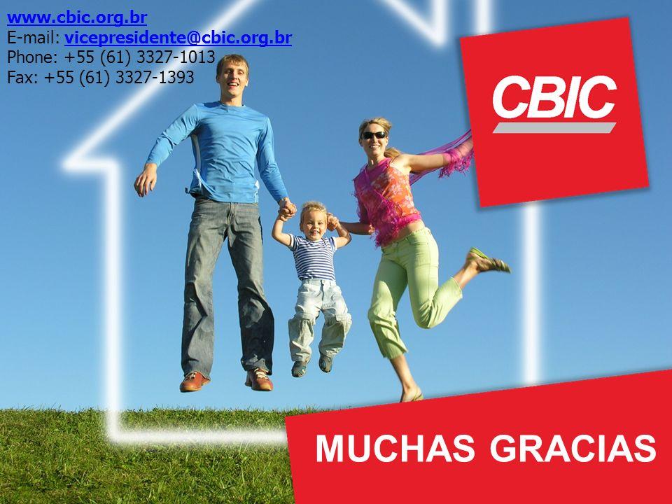 www.cbic.org.br E-mail: vicepresidente@cbic.org.brvicepresidente@cbic.org.br Phone: +55 (61) 3327-1013 Fax: +55 (61) 3327-1393 MUCHAS GRACIAS