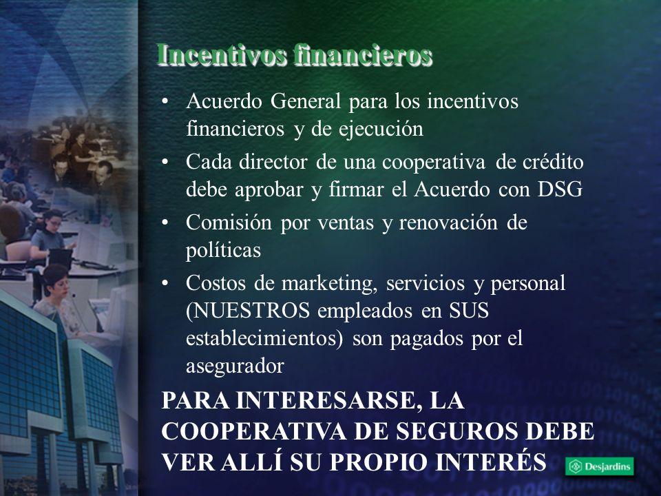 Incentivos financieros Acuerdo General para los incentivos financieros y de ejecución Cada director de una cooperativa de crédito debe aprobar y firma