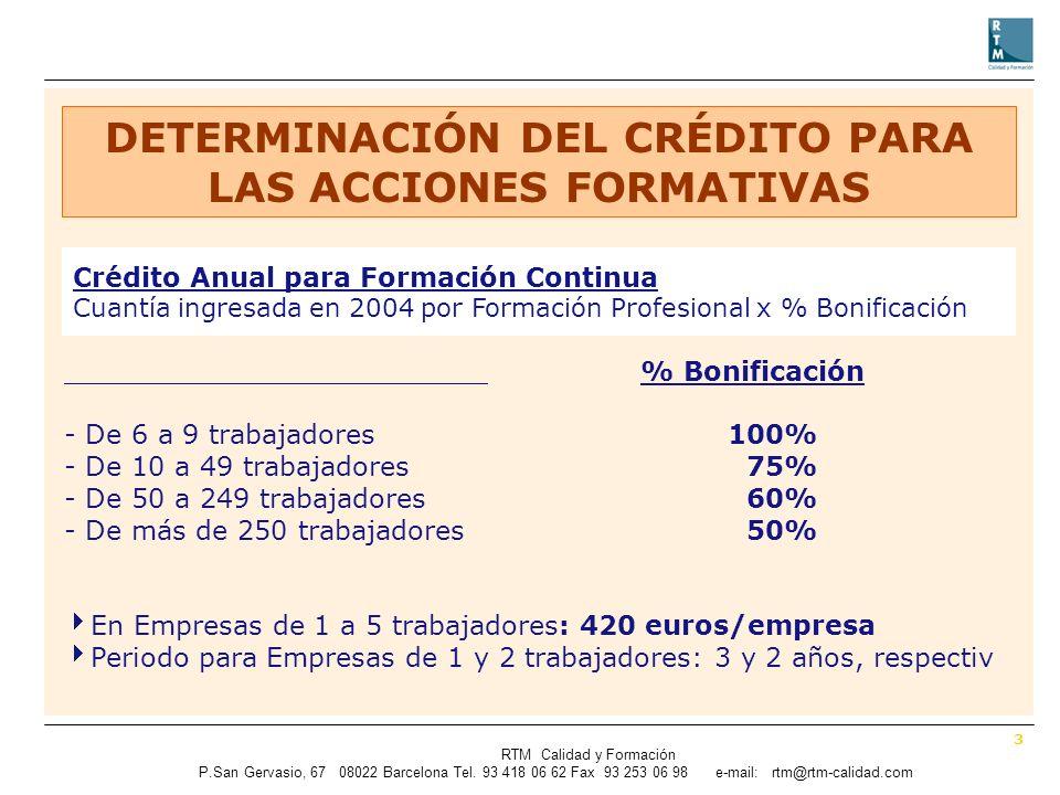 3 RTM Calidad y Formación P.SanGervasio, 67 08022 Barcelona Tel.