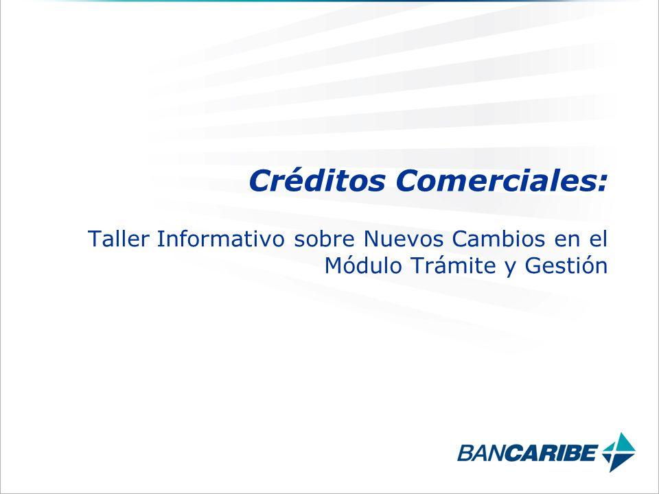 Taller Informativo sobre Nuevos Cambios en el Módulo Trámite y Gestión Créditos Comerciales: