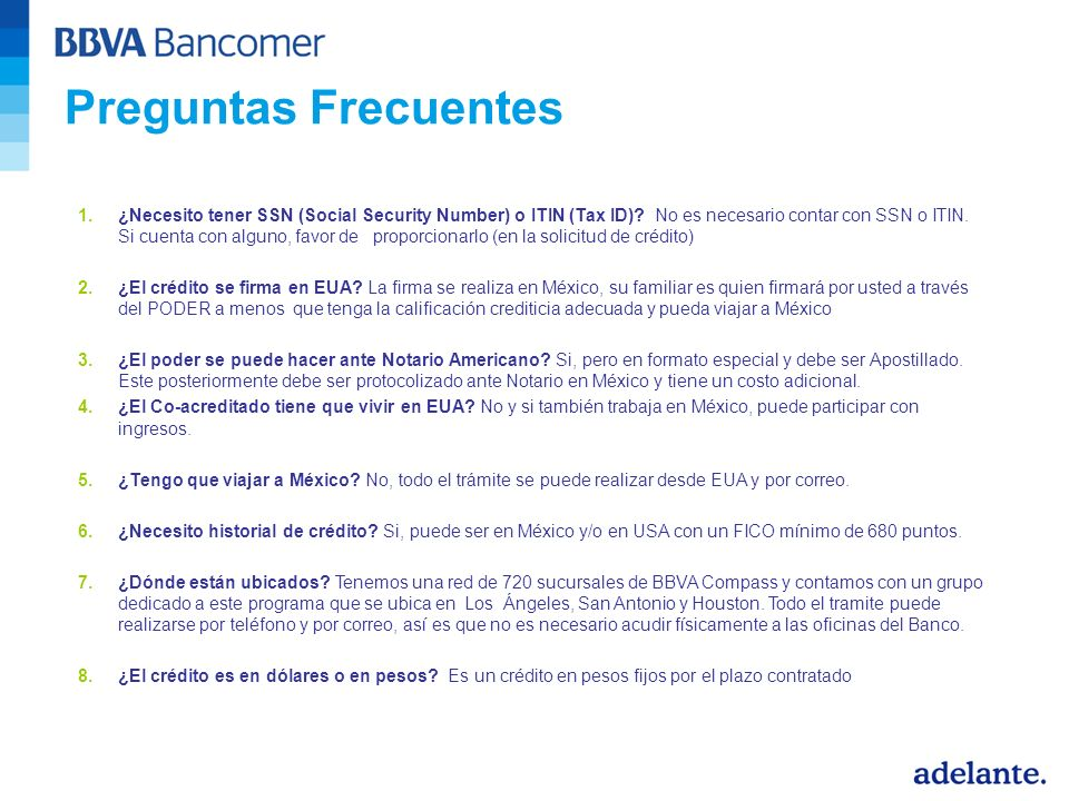 1.¿Necesito tener SSN (Social Security Number) o ITIN (Tax ID).