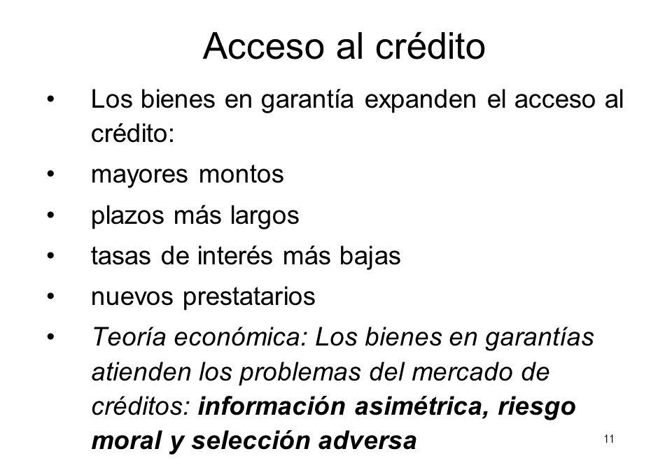 10 Acceso al crédito con bienes en garantía