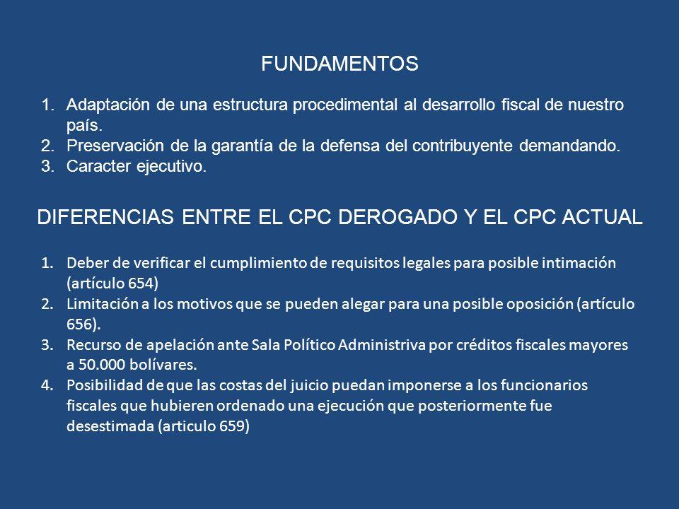 FUNDAMENTOS 1.Adaptación de una estructura procedimental al desarrollo fiscal de nuestro país. 2.Preservación de la garantía de la defensa del contrib