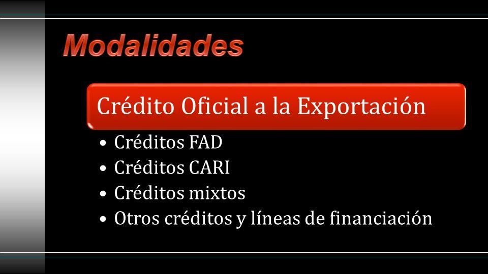 Los créditos FAD son créditos concesionales otorgados a países en desarrollo para la financiación de proyectos de exportación y que permiten: La penetración de empresas españolas en nuevos mercados y el conocimiento de sus productos, otorgando para sus proyectos unas condiciones de financiación muy ventajosas, que hacen su oferta más competitiva.