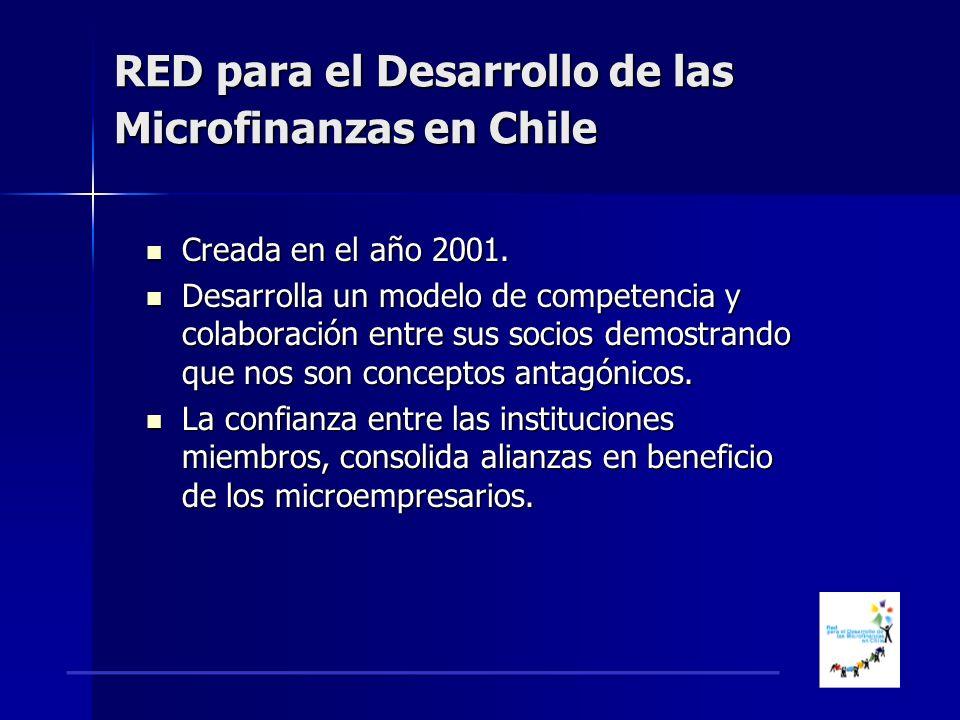 RED para el Desarrollo de las Microfinanzas en Chile Creada en el año 2001.