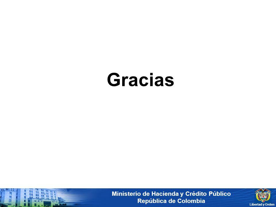 Ministerio de Hacienda y Crédito Público República de Colombia Libertad y Orden Gracias