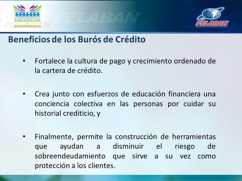 Fortalece la cultura de pago y crecimiento ordenado de la cartera de crédito. Crea junto con esfuerzos de educación financiera una conciencia colectiv