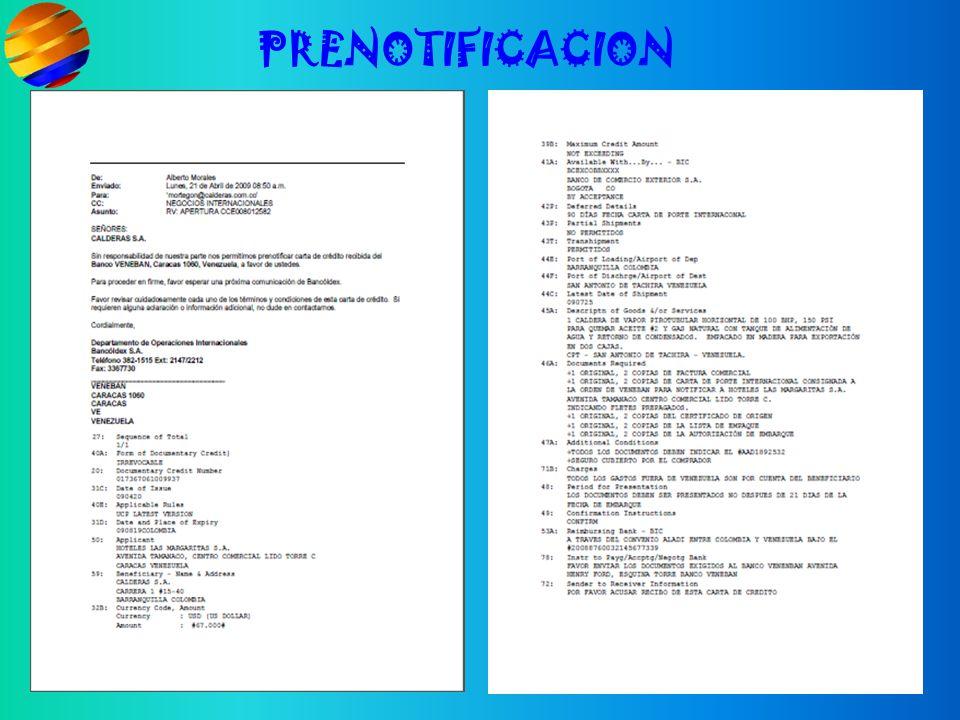 PRENOTIFICACION