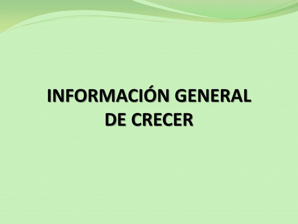 Oferta de servicios de CRECER CRÉDITO INDIVIDUAL PARA SALUD JORNADAS DE SALUD MINITALLERES ESPECIALIZADOS DE SALUD SISTEMA DE REFERENCIAS Y CONTRAREFERENCIAS SESIONES EDUCATIVAS MICROSEGURO DE VIDA SALUD A TRAVÉS DE TERCEROS MICROSEGURO DESGRAVAMEN CONVENIOS CON TERCEROS CRÉDITO BANCA COMUNAL
