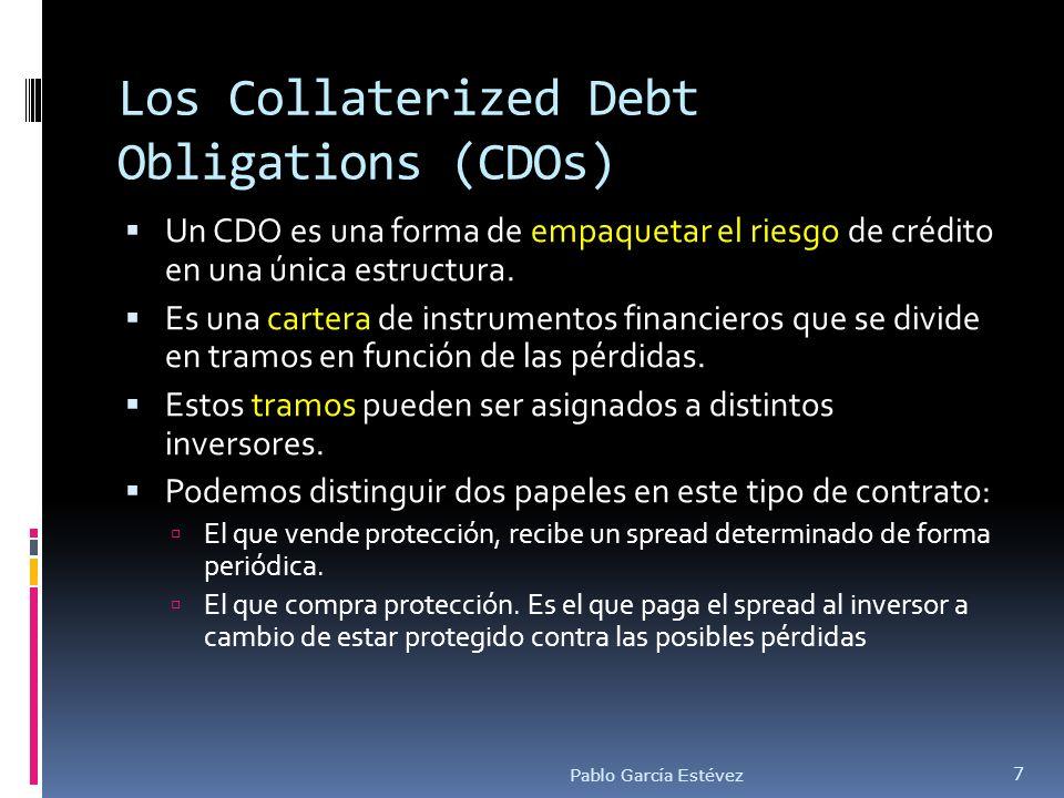 Los Collaterized Debt Obligations (CDOs) Un CDO es una forma de empaquetar el riesgo de crédito en una única estructura. Es una cartera de instrumento