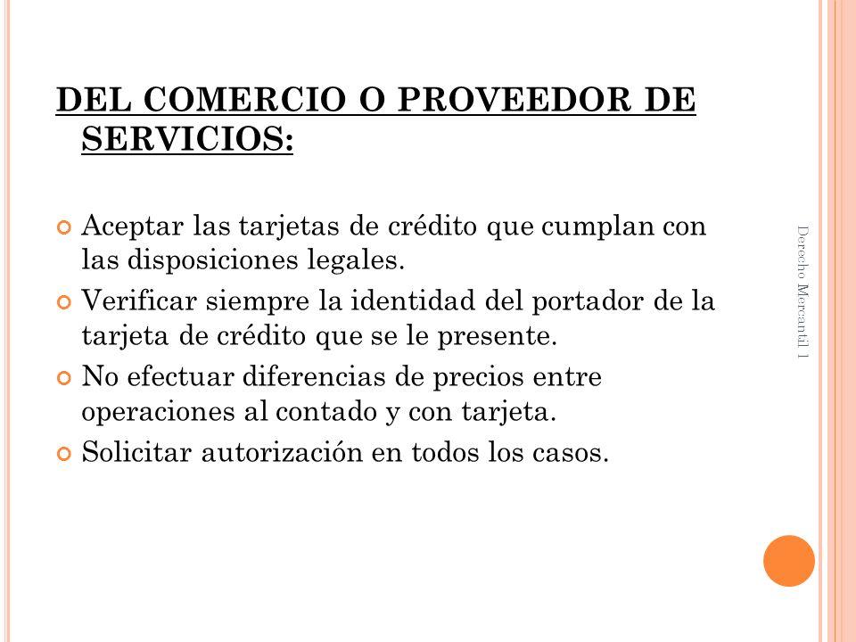 NATURALEZA JURÍDICA DEL CONTRATO DE TARJETA DE CREDITO Los caracteres jurídicos de este contrato son: Es un contrato principal, pues no depende de otro contrato.