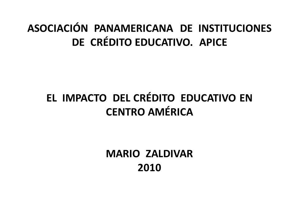 ASOCIACIÓN PANAMERICANA DE INSTITUCIONES DE CRÉDITO EDUCATIVO.