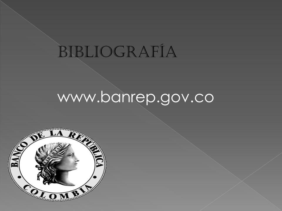 Bibliografía www.banrep.gov.co