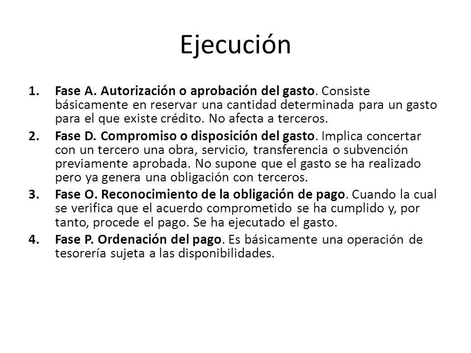 Ejecución 1.Fase A.Autorización o aprobación del gasto.