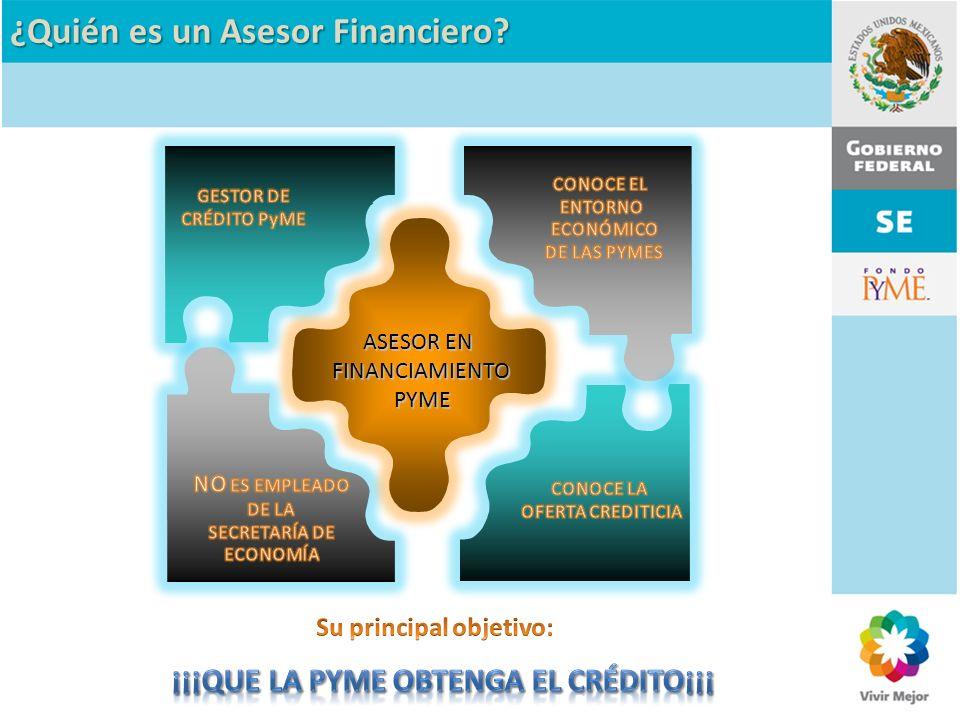 ¿Quién es un Asesor Financiero? ASESOR EN FINANCIAMIENTO PYME PYME