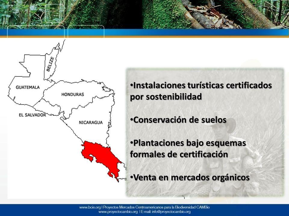 Instalaciones turísticas certificados por sostenibilidad Instalaciones turísticas certificados por sostenibilidad Conservación de suelos Conservación