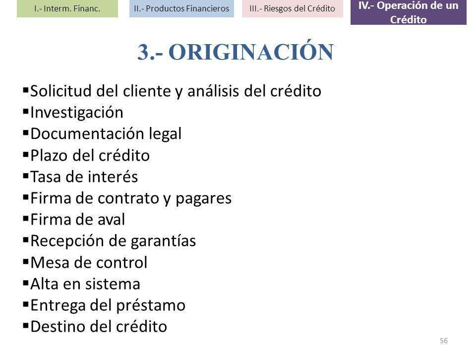 Solicitud del cliente y análisis del crédito Investigación Documentación legal Plazo del crédito Tasa de interés Firma de contrato y pagares Firma de