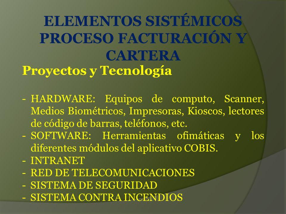 Proyectos y Tecnología -HARDWARE: Equipos de computo, Scanner, Medios Biométricos, Impresoras, Kioscos, lectores de código de barras, teléfonos, etc.