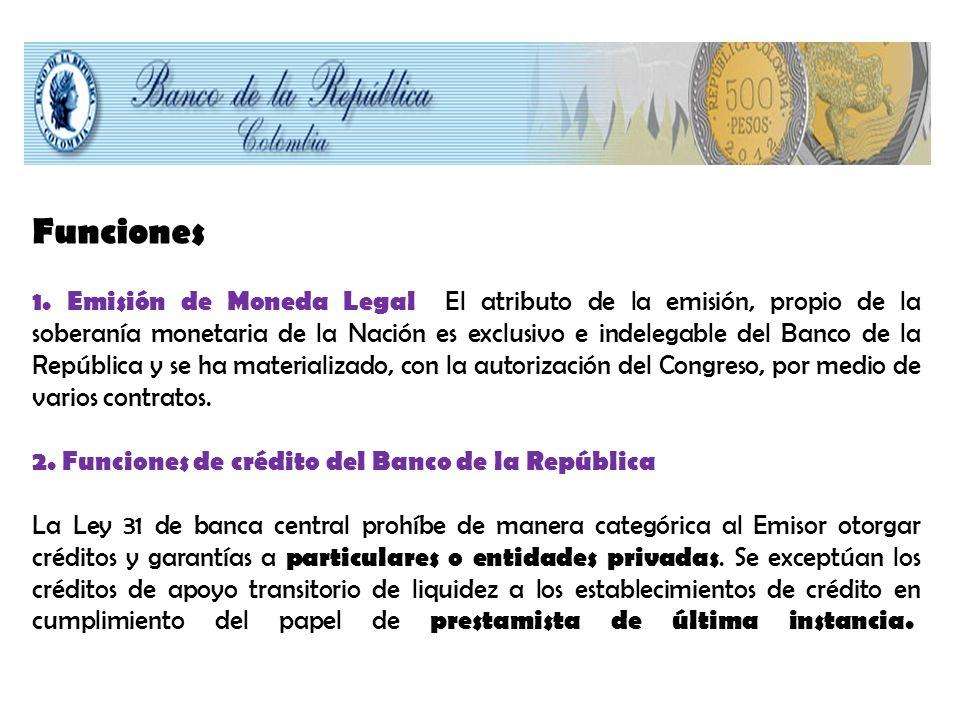 En cuanto al crédito del Banco de la República al Gobierno, debe limitarse a casos de extrema necesidad, y se requiere la aprobación unánime de todos los miembros de la Junta Directiva.