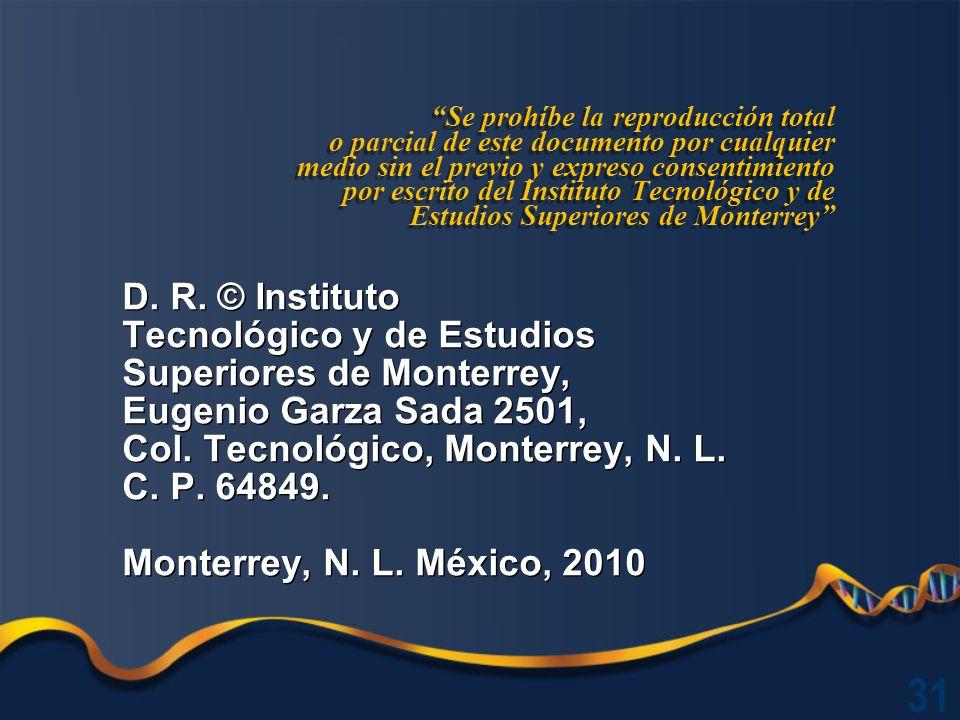 D.R. © Instituto Tecnológico y de Estudios Superiores de Monterrey, Eugenio Garza Sada 2501, Col.