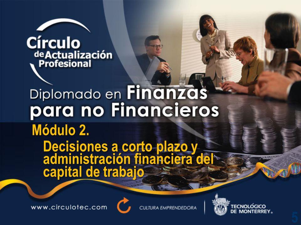 Módulo 2.Decisiones a corto plazo y administración financiera del capital de trabajo Módulo 2.