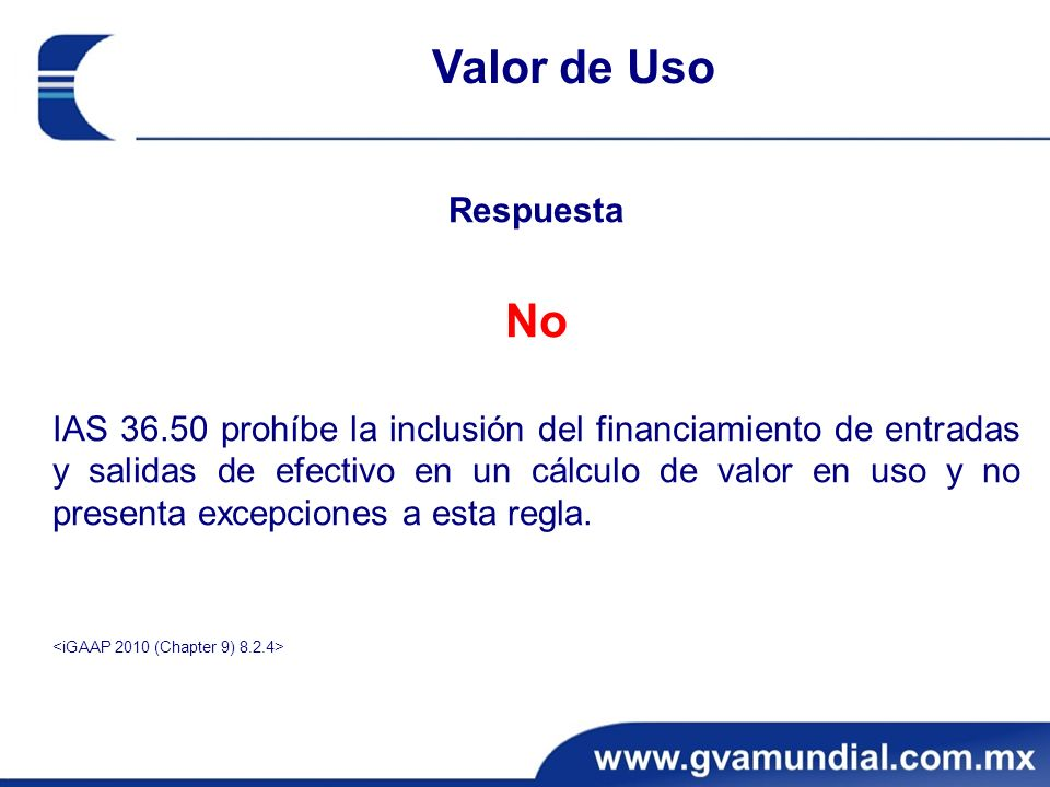 Respuesta No IAS 36.50 prohíbe la inclusión del financiamiento de entradas y salidas de efectivo en un cálculo de valor en uso y no presenta excepciones a esta regla.