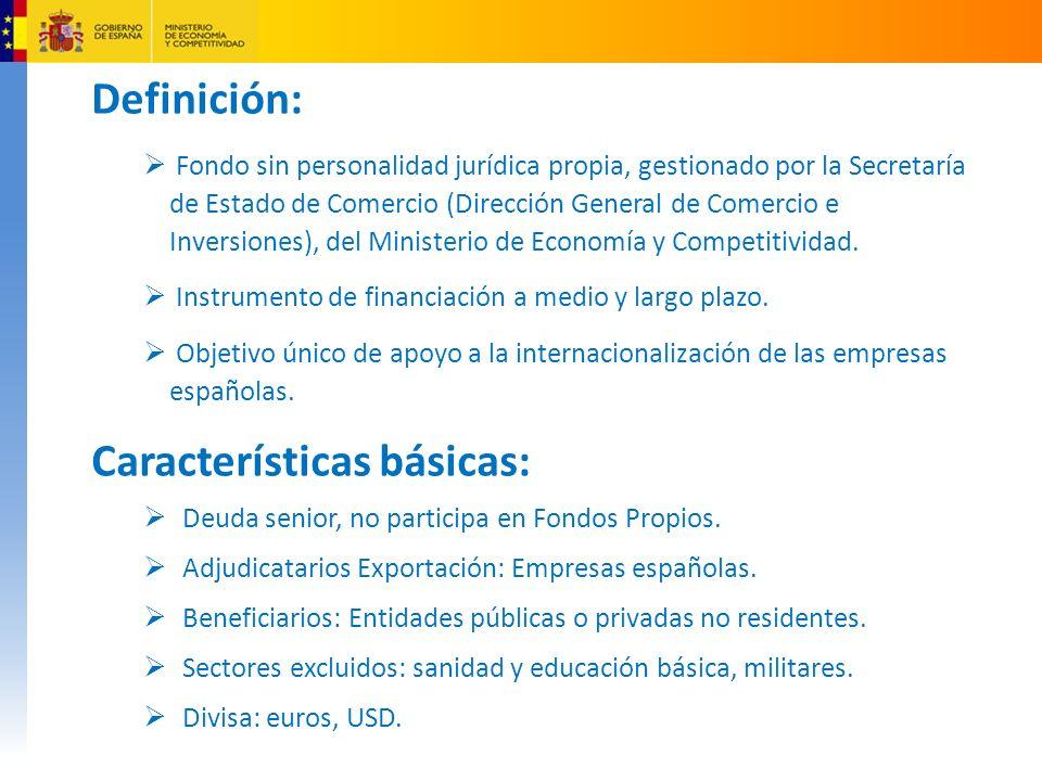 Definición: Fondo sin personalidad jurídica propia, gestionado por la Secretaría de Estado de Comercio (Dirección General de Comercio e Inversiones), del Ministerio de Economía y Competitividad.