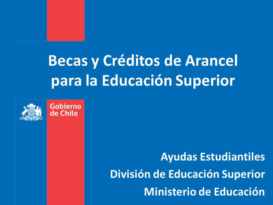 Becas y Créditos de Arancel para la Educación Superior Ayudas Estudiantiles División de Educación Superior Ministerio de Educación