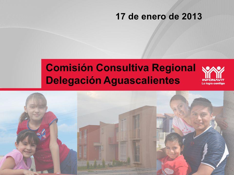 Comisión Consultiva Regional Delegación Aguascalientes 17 de enero de 2013