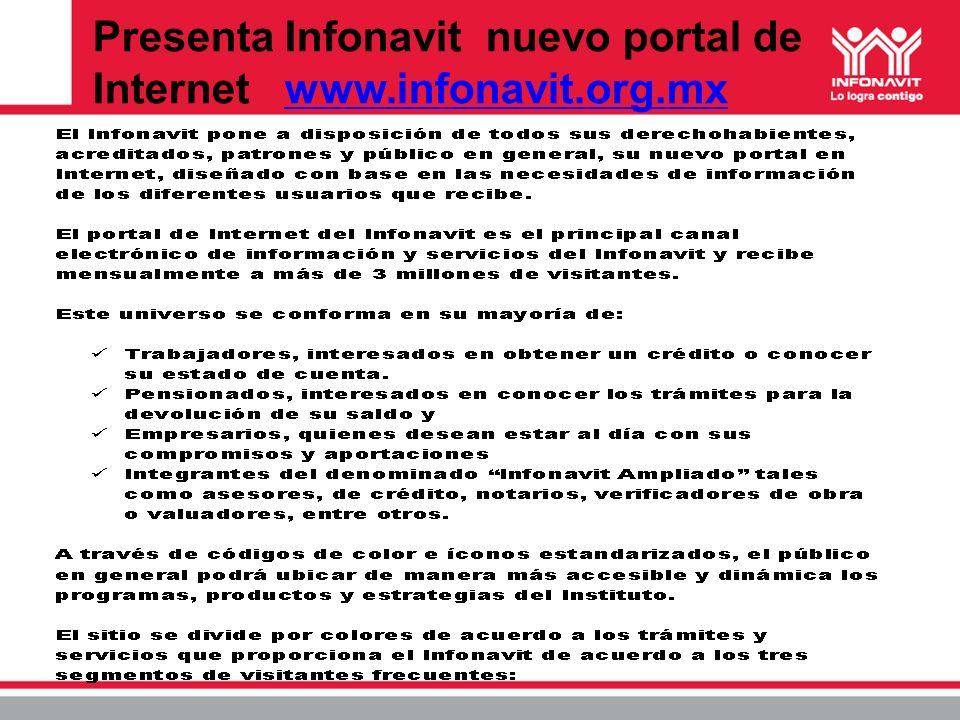 Presenta Infonavit nuevo portal de Internet www.infonavit.org.mxwww.infonavit.org.mx